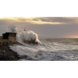 Giant waves, Porthcawl